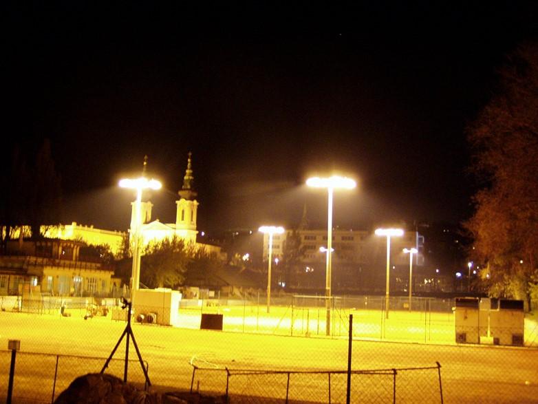 Budapest, Park Teniszklub pályavilágítás, 1